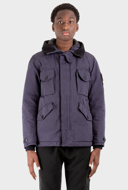 Compass Patch Hooded Jacket Ink