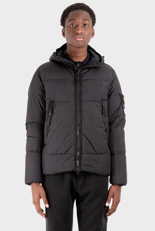 Garment Dyed Down Jacket Black
