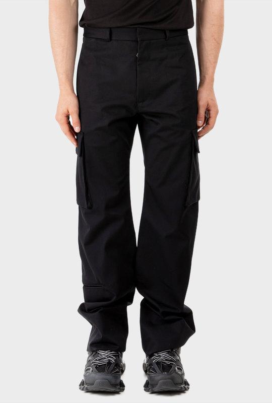 Straight Leg Cargo Pants Black