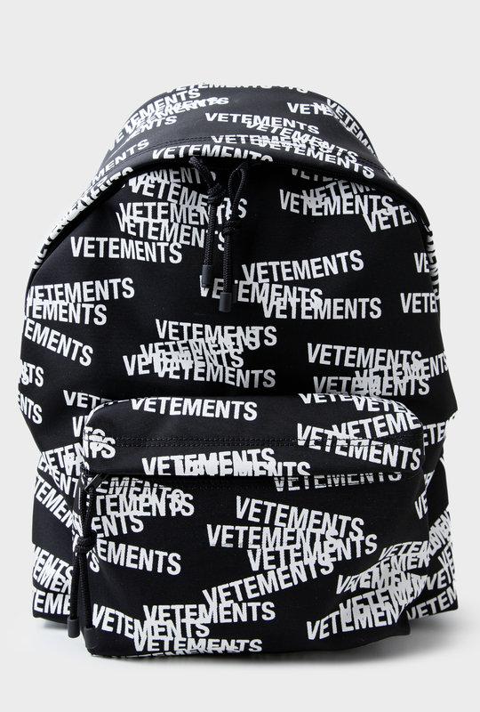 Stamped Logo Backpack Black