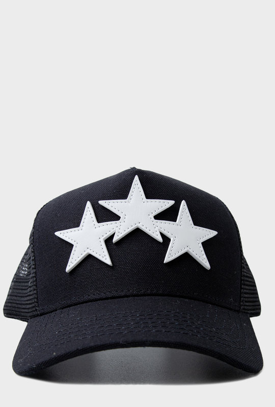 3 Star Baseball Cap Black