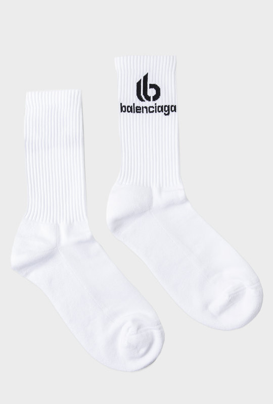 Ribbed Socks White