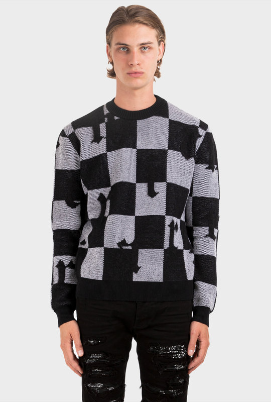 Jacquard Check Logo Sweater Multi