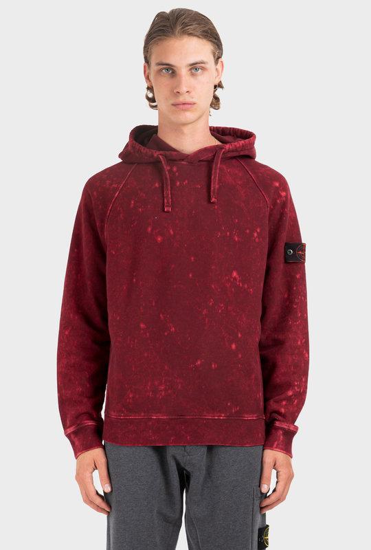 Tie-Dye Print Hoodie Red