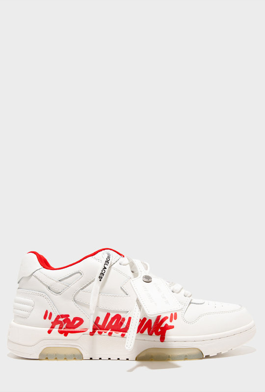White Red Out Of Office Sneakers