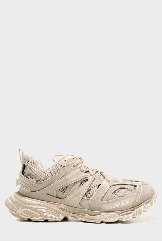 Track Faded Sneakers In Beige