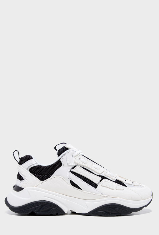 Bone Runner Low-Top Lace-Up Sneakers White Black