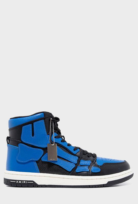 Skel Bones High Top  Sneakers Black Blue