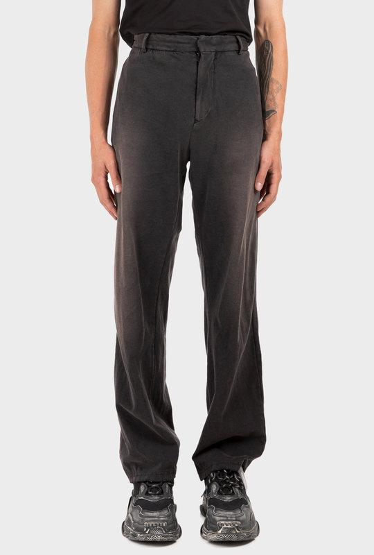 Slim Worn-Out Pants Black