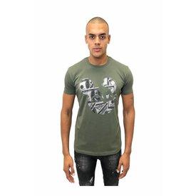Explicit Mickey Tee Army Shirt