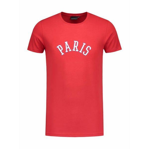 Angel&Maclean Red Paris City T-shirt