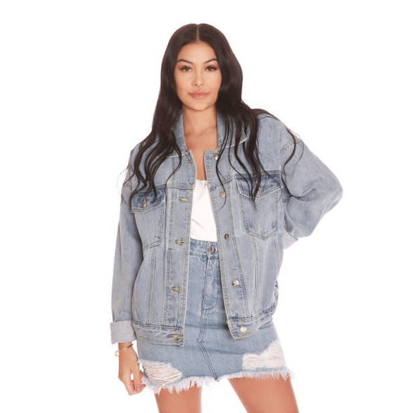 La Sisters Oversized Denim Jacket
