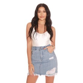 La Sisters Mini Denim Skirt Light