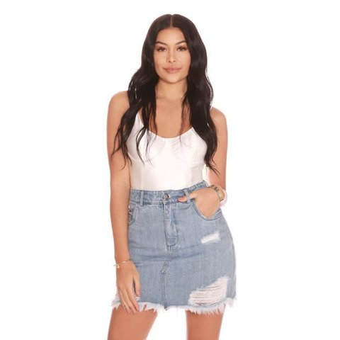 Mini Denim Skirt Light