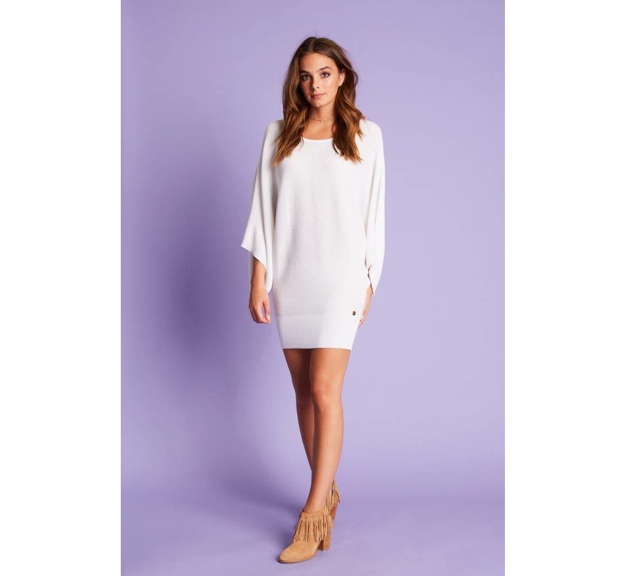 Top Knit Flared Sleeves White