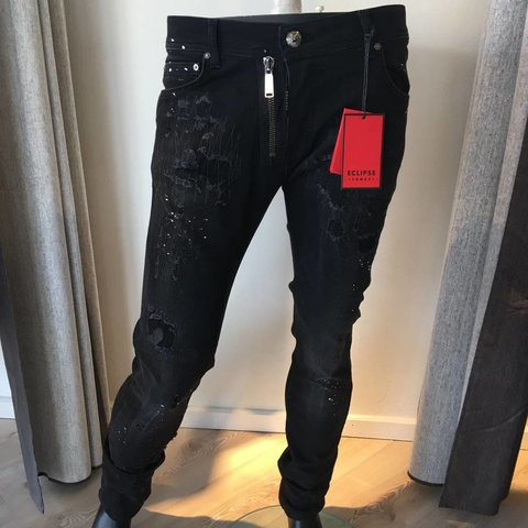 Jeans Phanthom Black Zipper