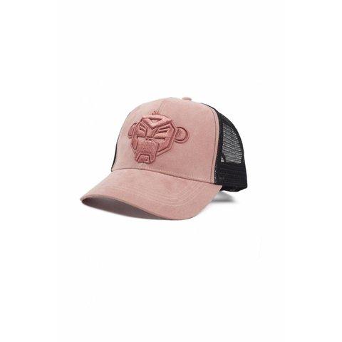 3D Monkey Trucker Pink
