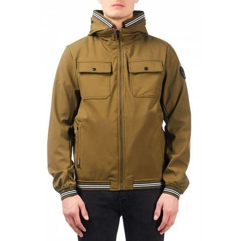 SOFTSHELL JACKET CHEST POCKET OLIVE