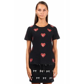 Jacky Luxury Shirt Hearts Black