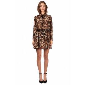 Jacky Luxury Dress Tie Detail Leopard