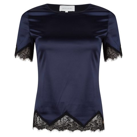 Top Satin Lace Navy