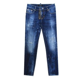 My Brand My Brand Pietro 030 Zipper Destryed Jeans Blue
