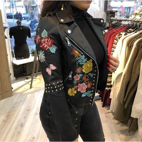 Flower Jacket Black