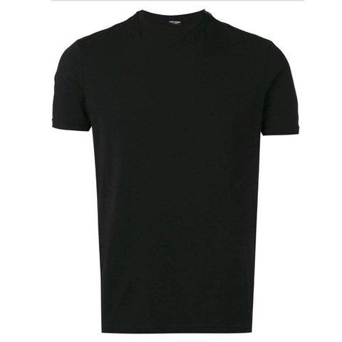 Underwear Shirt Black / Red Logo Round Neck