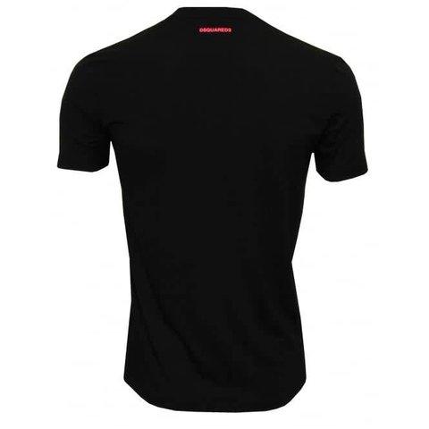Underwear Shirt Black / Pink Logo Round Neck