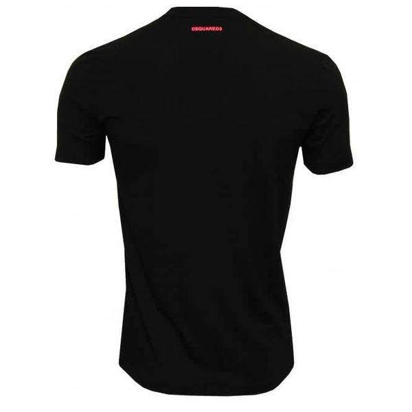 Dsquared2 Underwear Shirt Black / Pink Logo Round Neck