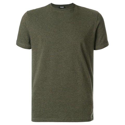 Underwear Shirt Green Round Neck