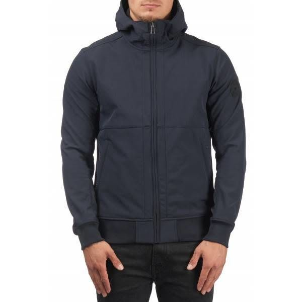 Airforce Softshell Casual Hooded Dark Blue