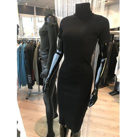 Destination Dress Black Rib