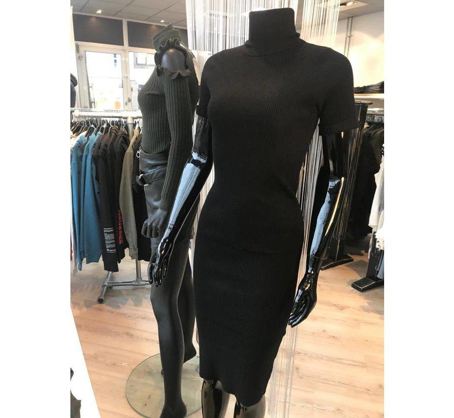 Dress Black Rib