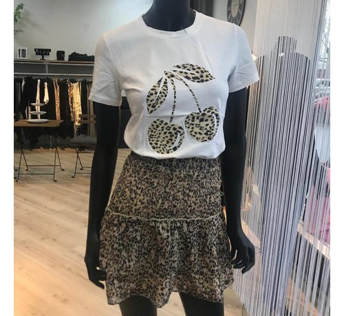 Jacky Luxury Skirt With Ruffle Leopard