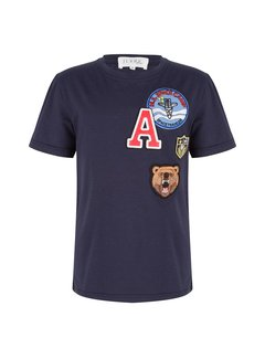 Jacky Luxury T-Shirt Badges Navy ( Kids )