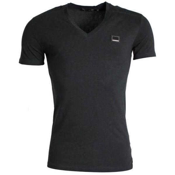 Antony Morato Shirt Basic Metal Logo Black (V Neck)