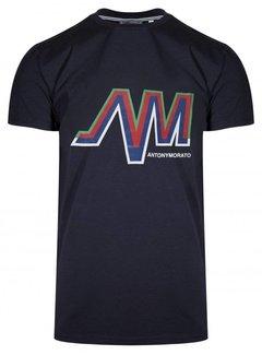 Antony Morato AM Logo Shirt Blue