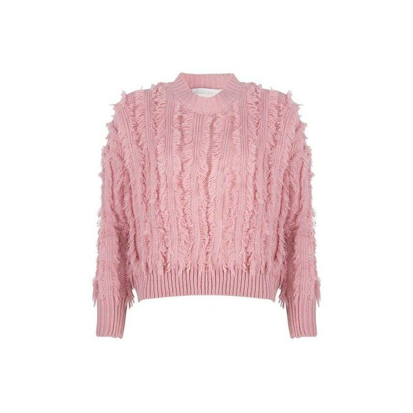 Delousion Sweater Feather Light Coral