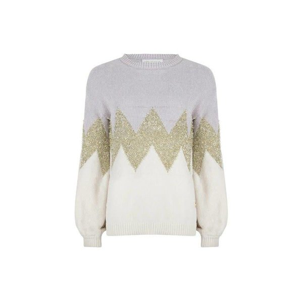 Delousion Sweater Dees Grey/Gold
