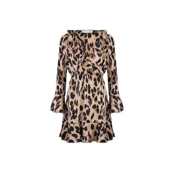 Delousion Dress Krissy Khaki Leopard