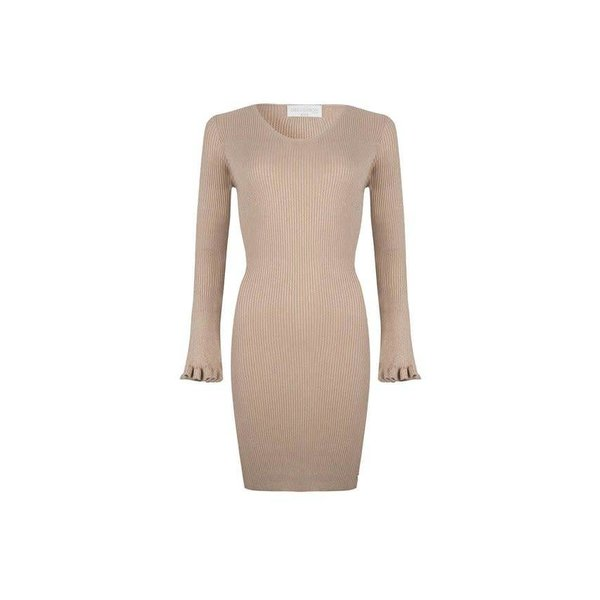 Delousion Dress Isaa Beige