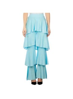 Reinders Cherie Ruffle Pants Lurex Clear Water