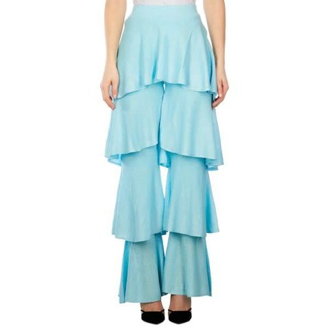 Cherie Ruffle Pants Lurex Clear Water