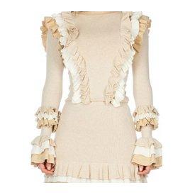 Reinders Valerie Ruffle Skirt Creme