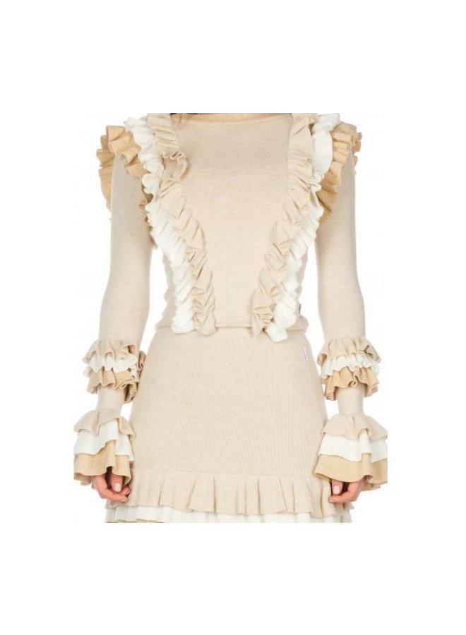 Valerie Ruffle Skirt Creme