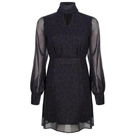 Jacky Luxury Leopard jurk met strikdetail.