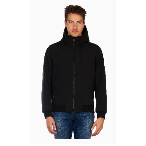 SOFT JACKET CHEST POCKET BLACK