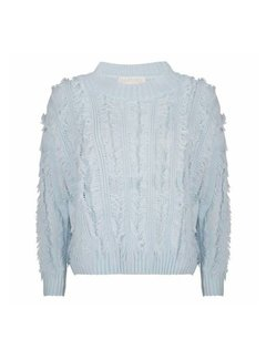Delousion Sweater Feather Ocean Blue