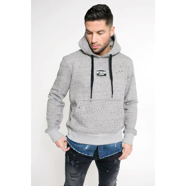 My Brand Badge Denim Hoodie